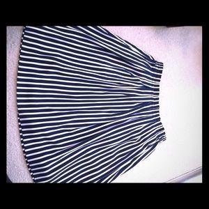 J.Crew Navy & White Striped Skirt